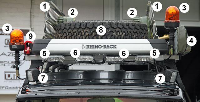 Roof rack met accessoires
