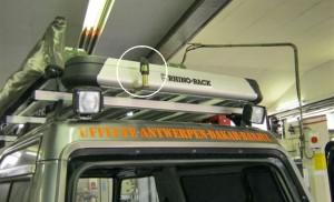 Werklampen en zwaailicht steun achter