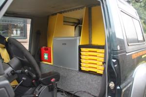 Tussenschot laadruimte en bestuurderscompartiment