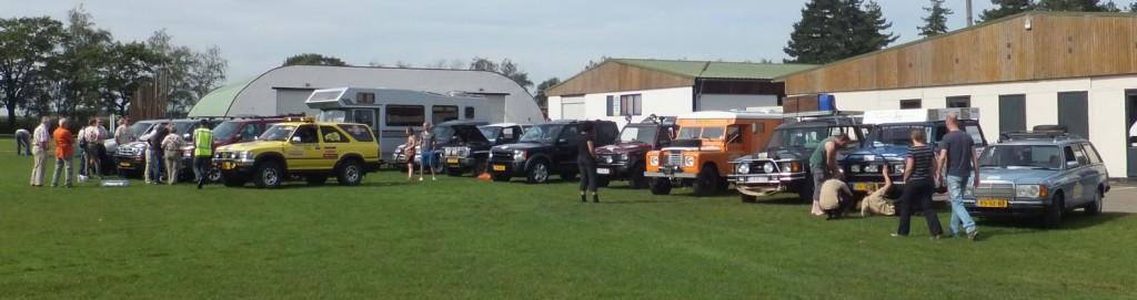 Een aantal van de aanwezige voertuigen