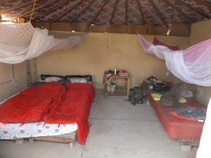 ons luxe hutje op het dak van Auberge Sahara