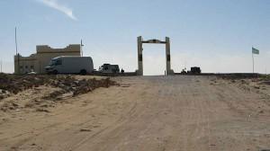 de grenspoort met Mauritanië
