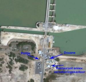 Satalietbeeld van de Barrage Diama